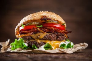 Big Burger with Cheese and Bacon
