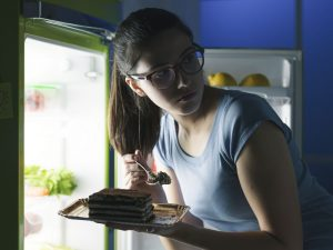 Does eating late at night put on pounds?