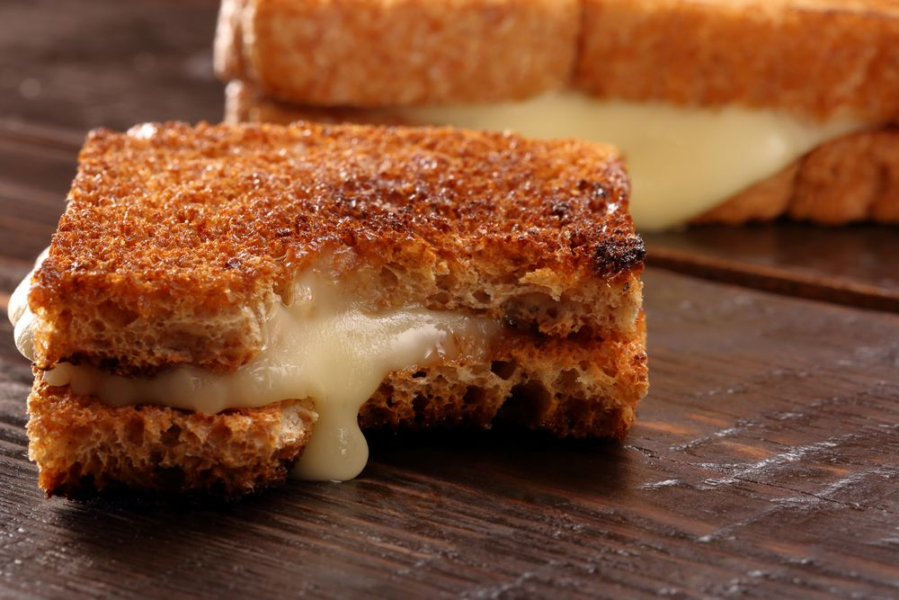 Small and Larger Grilled Cheese