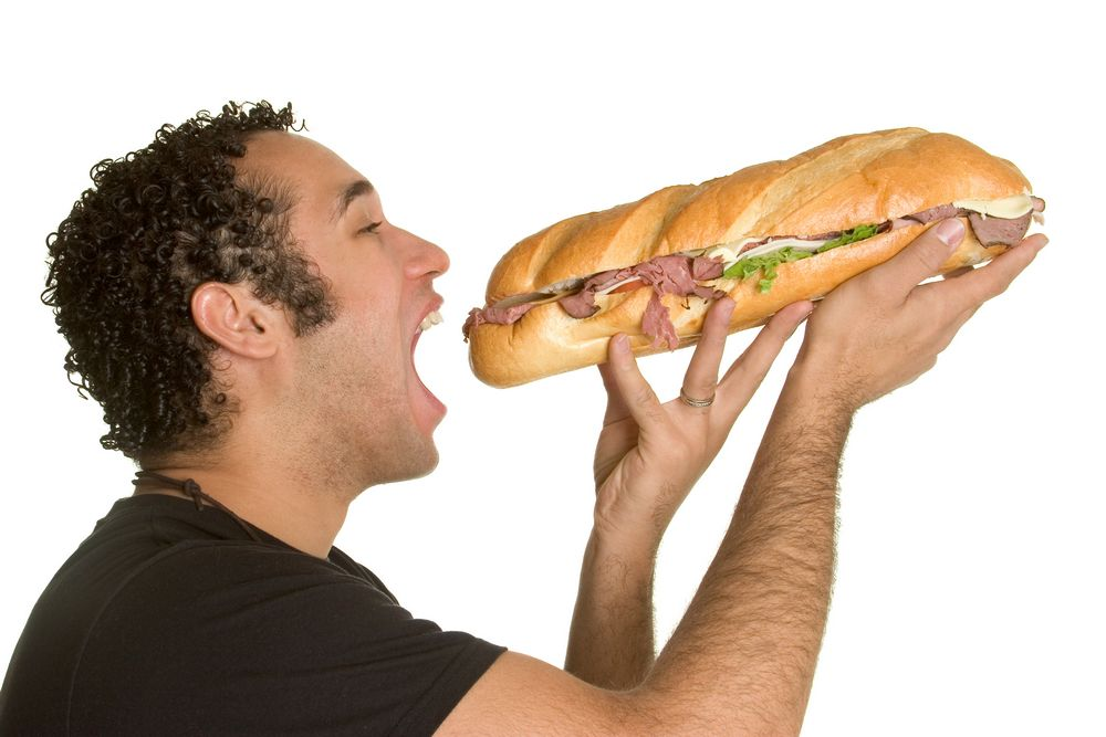 lose weight eating subway  eating love