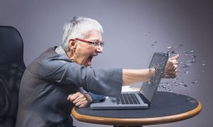 Woman Expressing Anger in an Unhealthy Way